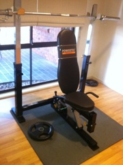 powertec multi purpose bench press with 120kgs of weights