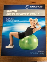 65 cm anti burst exercise ball