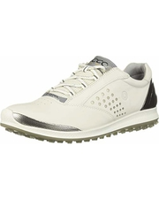 ECCO Women's Biom Hybrid 2 Golf Shoe,  White Yak Leather,  7 M US